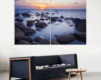 Ocean Photography, Sunset, Rocks, Coast, Beach Wall Art, Decor, Digital Art, Canvas Print, Canvas, Pin Board, Canvas Art, Canvas Decor
