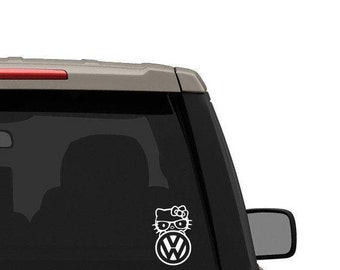 Hello kitty inspired vw decal