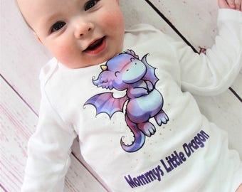 Mommys Little Dragon Shirt - Kids Dragon Shirt - Dragon Shirt - Mommys Little Dragon - Dragon - Childrens Dragon Shirt - Little Dragon Shirt