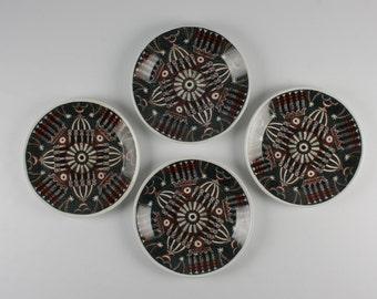 Set of 4 Portmeirion Magic City Dessert Plates