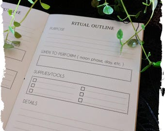 Rituals & Workings Outline Notebook