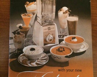 Vintage Toastmaster Star-Mix Blender Instruction/Recipe Booklet- 1960