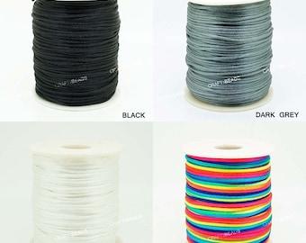 1.5MM Mousetail Satin Cord Shamballa Macrame Beading Nylon kumihimo Craft String