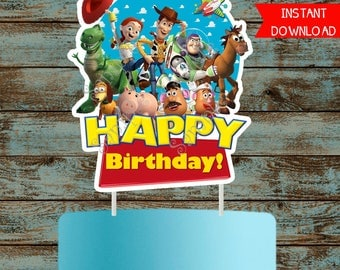 Toy Story Cake Topper, Toy Story Printable Cake topper, Toy Story Birthday Party Decorations, Toy Story Centerpieces, Toy Story Birthday