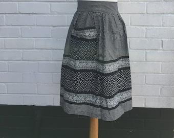 Vintage Black and White Lace Detail Apron