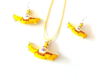 "Set - ""Yellow Submarine!"" - THE BEATLES - in fabric"