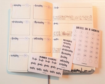Planner and Bullet journal stickers