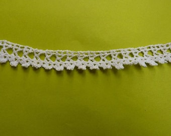 65 cm delicate antique lace handmade crochet white off 20mmde wide