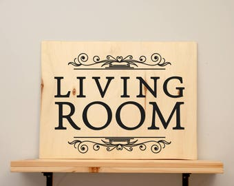 Living room - vinyl on varnished wood (choose from 2 sizes and a range of colours) - Wall decor