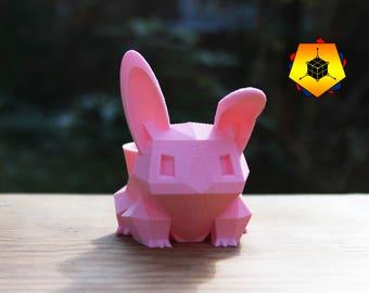Bulbasaur planter 3D printed Bunny Planter Pokemon planter pink / small / medium / large / custom size