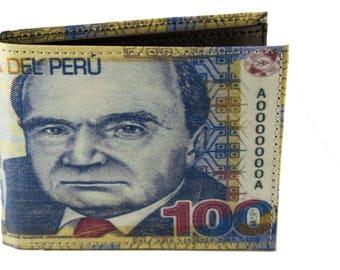 Peruvian Money wallet 100 Soles