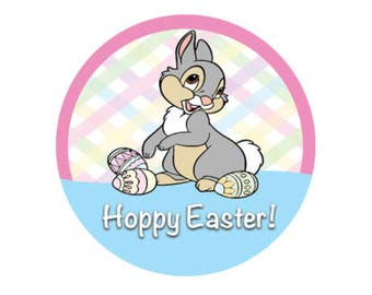 Happy Easter Button - Thumper Bunny Button - Hoppy Easter Pin - Disney Park Pin - Easter Disney Button - Theme Park Easter Pin - Lanyard Pin