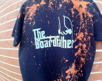 Acid Splashes t-shirt Black 100% cotton size L TheBoardfather skateboard