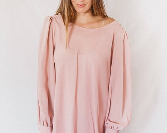 Vintage, dusty rose tent dress with slip