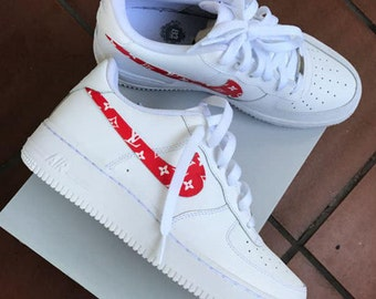 Custom Nike Air Force 1 - Supreme x LV