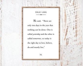 Book Page Cut File, Dalai Lama Print, Dalai Lama Quote, Family Quote SVG, Printable, Cricut SVG Bundle, SVG, Print, Vector, Cut File