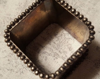Vintage Silverplated Square Napkin Ring England