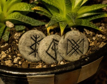 Polymer Engraved Rune Stones