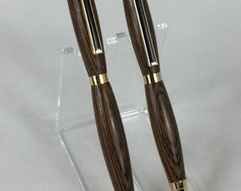 Bocote Handcrafted Wood Pen & Pencil Set #103 w/ Box