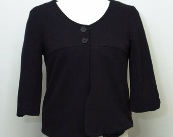 1980's JACOB  3/4 sleeves adorable little black jacket. Fully lined
