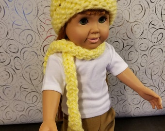 18 Inch Doll Clothes Accessories- Hand Knit Hat and Scarf Sets