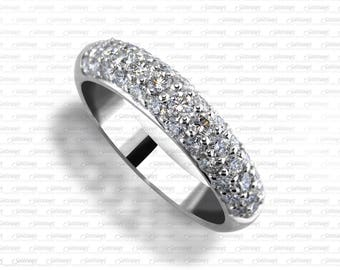 37 Diamond Ladies Wedding Anniversary  Ring - 18K and 14K White Gold , 18K and 14K Yellow Gold , 18K and 14K Rose Gold and Platinum LR4264