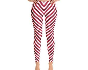 Women's Valentine Straps-Leggings,Beautiful Pattern leggings, full printed, Printful, USA,Made for you, Modern,Trendy Design store,