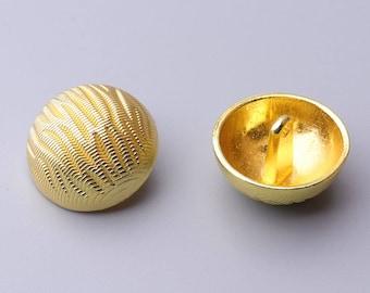 6pcs 23mm metal button round button gold button shank button large button