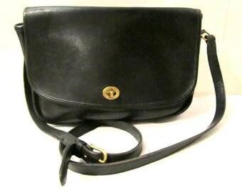 COACH Bag,  Messenger bag, Coach vintage, Leather Saddle Bag, Coach Crossbody, Coach Black  Leather