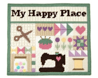 PATTERN: Sewing Room Wall Hanging in Plastic Canvas
