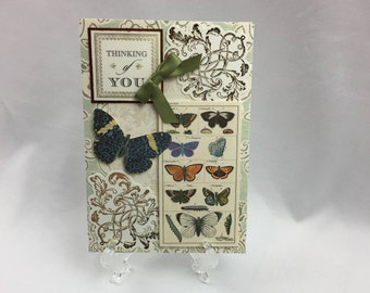 Anna Griffin, Handmade Card, Thinking of You, Prayers, Sympathy, Condolences, Butterflies