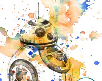 BB8 Star Wars Print From Star Wars Baby Decor BB8 Star Wars Poster Star Wars Art Print Movie Poster Decor Print Star Wars gift Star Wars