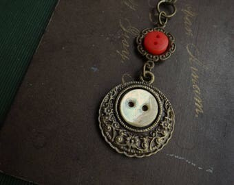 Vintage Button Necklace - Token of Love