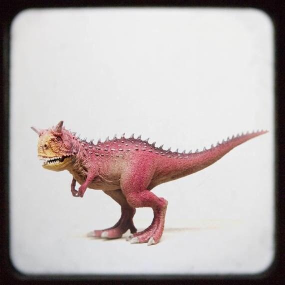 Nursery Decor Boy, Carotaurus Dinosaur, Wall Art, Boys Room Print - Toy Photograph, Dinosaur Nursery, Prehistoric Nursery Art, Childs Room