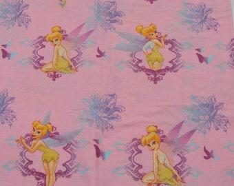 Disney Tinkerbell Flat Sheet, Vintage Craft Fabric