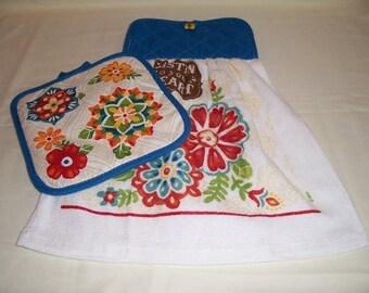 Oven Door Hanging Towel ,Listen To Your Heart,Tea Towel, Kitchen Towel -Ready To Ship