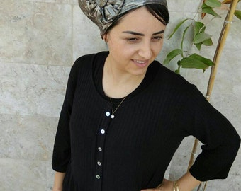 Jewish hair snood, israel clothing,snood, hair covering, Leatherette snood,by oshratdesignz