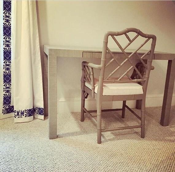 Grasscloth Wrapped Desk/Table - Custom Built - Design Your OWN
