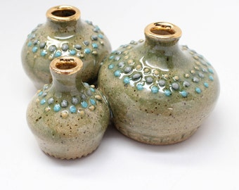 Tiny Bud Vase Trio