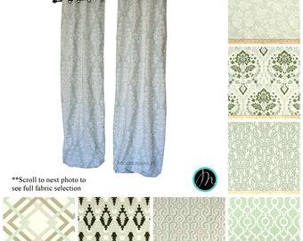 designer curtains drapery panels artichoke sage green curtains choose your size valance