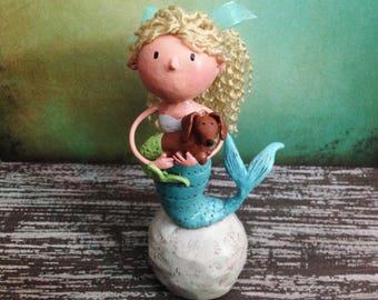 Mermaid Friends Figurine - One of a Kind Art Sculpture