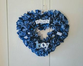 Boy Wreath, Baby Boy Door Wreath, Baby Boy Wreath, Baby Boy Door Hanger, Baby Boy Items, Boy Shower Ideas, Baby Boy Gift Ideas, Boy Mom