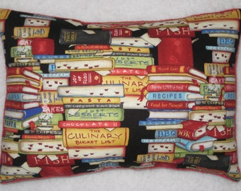 Cookbook Pillow - Accent Pillow - Mini Pillow -  Culinary Gift - Chef Gift - READY to SHIP