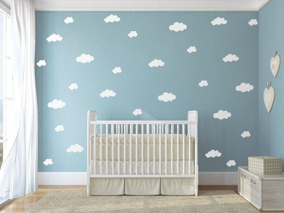 Cloud Wall Decals Wall Decal Clouds Cloud Decals Nursery - Nursery wall decals clouds