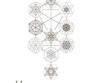 The Tree of Life-Kabbalah Elements and Sacred Geometry Symbols-Jewish Art Printable-INSTANT DOWNLOAD by @HALELUYA