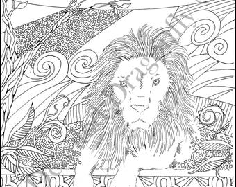 lion coloring page boys coloring page adult coloring page coloring pages for kids - Coloring Page Lion