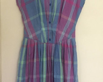 Vintage French Connection Madras Dress