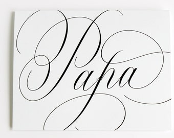 Papa - Father's Day Calligraphy Greeting Card