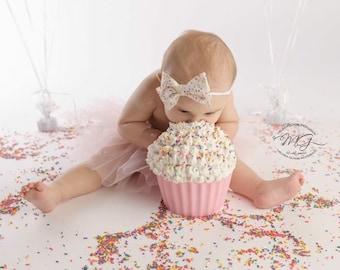 First birthday, first birthday outfit,  headband, birthday headband, 1st birthday girl, first birthday, sprinkle party, sprinkle birthday