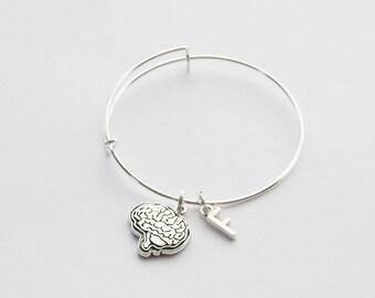 Brain Bangle, Brain Bracelet, Brain Jewelry, Anatomical Brain Bangle, Anatomy Bracelet, Funny bangle, Grad Gift, Novelty Bangle